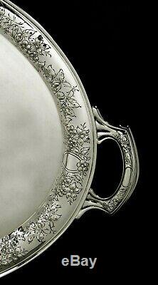 Wallace Argenterie Sterling Tea Set Plateau C1940 117 Onces