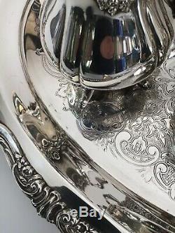Wallace Baroque Silverplate Service À Thé (companion À Grande Baroque) Corpulent