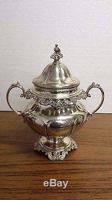 Wallace Grand Baroque Argent Sterling 4pcs Set De Thé Crème À Sucre Thé Au Café