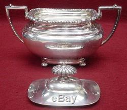 Wallace Silver Company N6724 Silverplate Ensemble De 4 Pièces Tea Teapot, Ceamer, Sucre